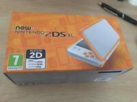 White and Red Nintendo 2DS XL