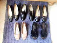 Collection of hardly used shoes Size 6 (one 5½ D fitting).
