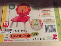 Leo the lion wooden chair , New boxed rrp £25
