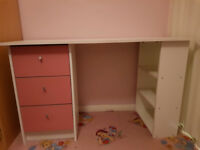 Childrens desk in pink £40 Collection Frimley
