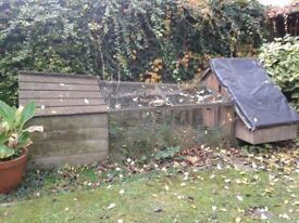 Forsham Lenham chicken ark with good house but run needs repairing.