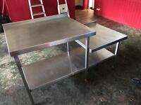 Industrial commercial stainless steel table kitchen cafe
