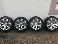 """VW T5 Van Alloy Wheels (1 damaged) 18"""""""