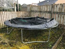 12ft Trampoline - needs 2 new poles and a top support for the net