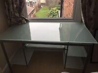 Attractive Desk with frosted glass surfaces