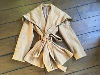Tan wool coat size 10