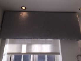 Silver/light Grey Crushed Velvet Pelmet