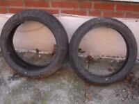 old motorcycle bridgestone tyres 120/70 & 190/50