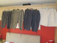 4 pairs of shorts (Navy, Cream, Khaki and black), Size 18