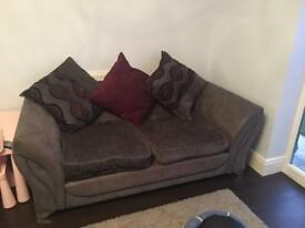 2 seater 3 seater sofa and footstool