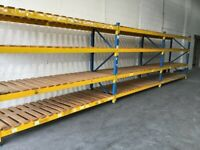Used PSS Longspan Shelving System - 3 Joined Bays
