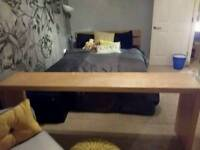 Ikea malm Birch over the bed table