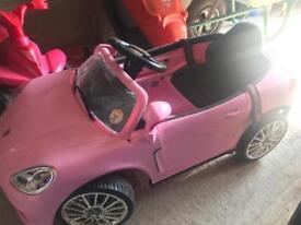 Electric pink car