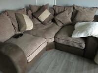 3 seater corner sofa + swivel chair