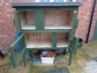 Double Rabbit or Guinea Pig Hutch .