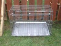 DOG CAGE LARGE WITH TRAY £30