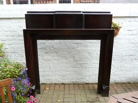 FIRE SURROUND & MANTEL, MAHOGANY approx 100 years old