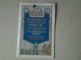 BOLTON WANDERERS V WEST HAM 1923 CUP FINAL PROGRAMME.