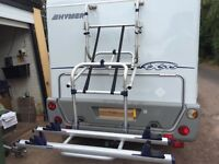 Manual Omnistor bike lift rack for a motorhome or caravan