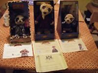 3 Meekat toys still boxed with certificate