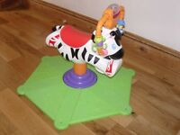 Fisher Price 'Go Baby Bounce & Spin Zebra' - Great Condition