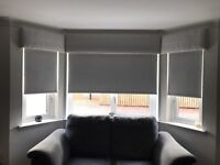 3 sets silver white faux suede blackout roller blinds - price from £20