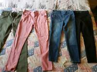 Girls jeans ages 7-8 and 8-9