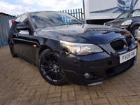 BMW 2008 5 SERIES 2.0 520d M Sport 4dr, FULL SERVICE HISTORY+ BLACK LEATHER!!