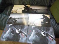 shooting,fishing,hunting table mats set of 12