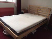 NEW IKEA DOUBLE BED + MATTRESS + DUVET