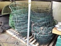Green Plastic Wire Covered Hanging Basket