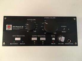 SM Pro Audio M-Patch 2 Monitor Controller