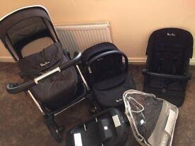 Silvercross wayfarer travel system and isofix £300 ovno