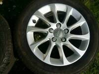 16 inch 5x112 genuine Audi A3 alloys wheels