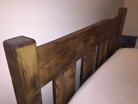 Farmhouse Reclaimed Pine Plank bedroom set, Bed, Chest of Drawers Bedside cabinets EXCELLENT UPDATED