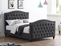 Stunning Studded Bedstead in Grey
