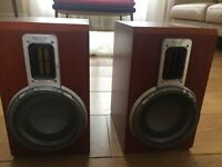 PHILIPS BOOKSHELF SPEAKERS MODEL NUMBER MCD708