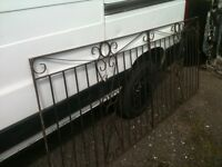 iron railing or drive gate