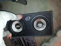 """12"""" DUEL VOICE COIL CLARION SUBS 1600 WATTS EACH MUST GO QUICK"""