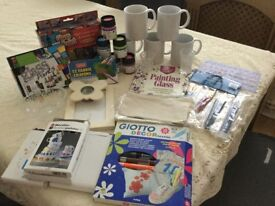 Ceramic,glass ,fabric paints with accessories