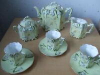 Antique SNOWDROP Tea set - 12 pieces