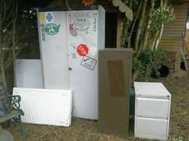 Metal cabinets and radiator