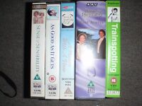 Five VHS movies