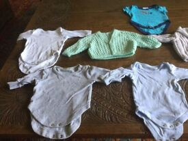 A bag of clothes for a baby boy 0-3 months