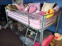 METAL HIGH FRAMED BED/BUNKBED/STORAGE MID SLEEPER