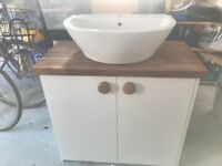Bathroom Basin and Cupboard