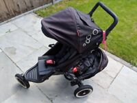 Phil and Teds black dot double buggy