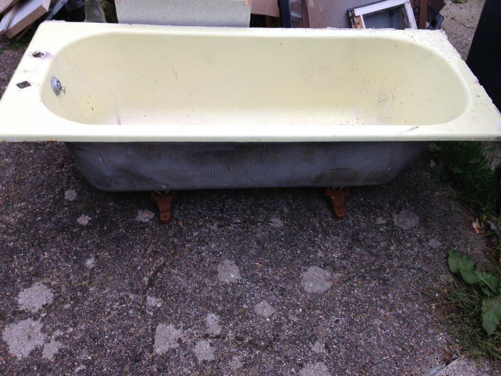 Cast Iron Bath Yellow Free to Collector