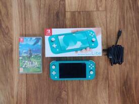 Nintendo Switch Lite + Zelda & Hollow Knight Bundle - Like New