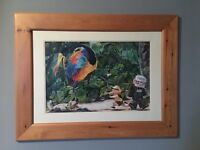Disney Pixar's Up original framed painting